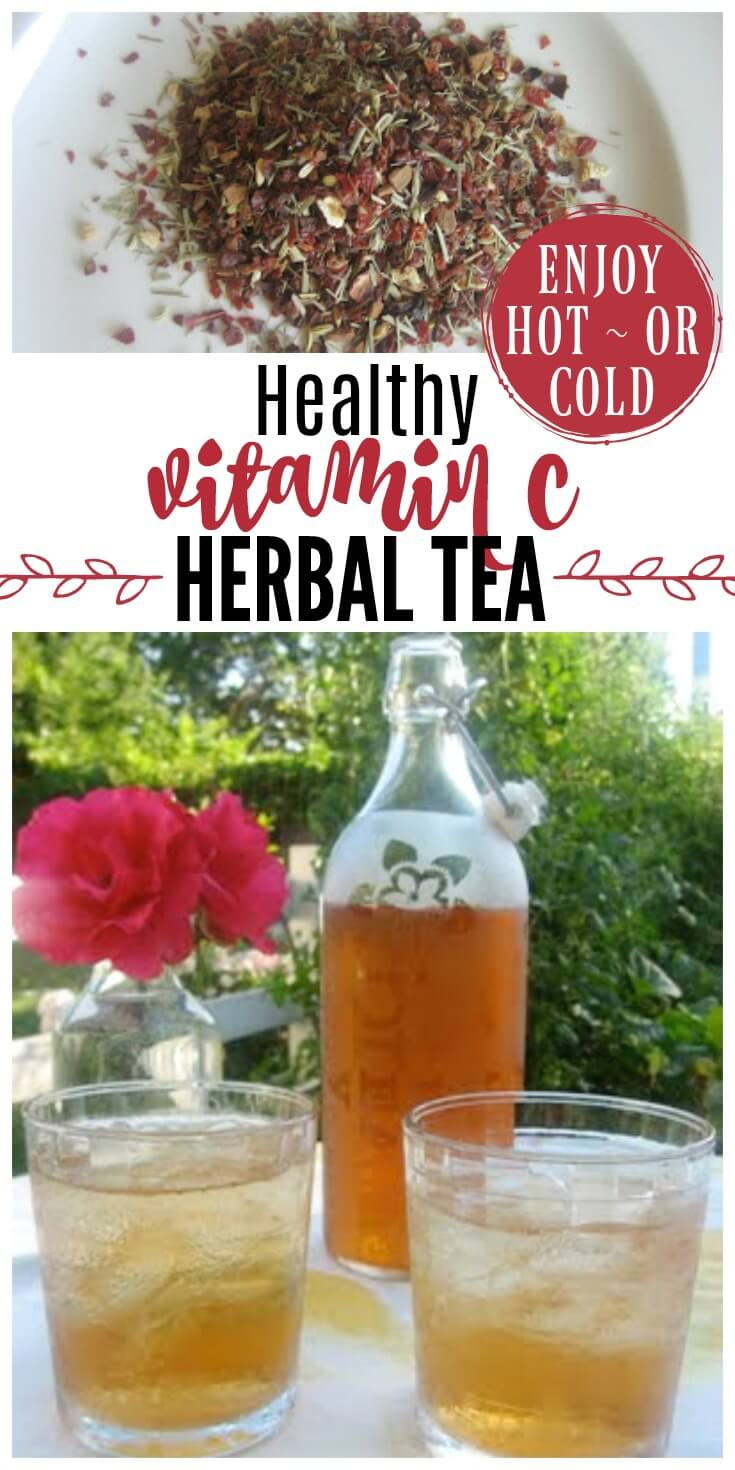Healthy Vitamin C Herbal Tea is high in vitamin C and bioflavonoids. It's refreshing on a hot summer day and great to have on hand during cold and flu