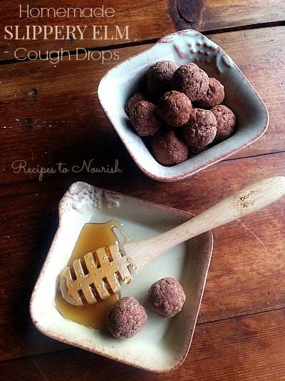 Homemade Slippery Elm Cough Drops   Recipes to Nourish