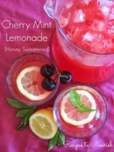 Cherry Mint Lemonade | Recipes to Nourish