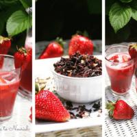 Hibiscus Strawberry Iced Tea Cooler