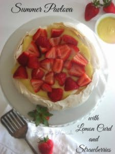 Summer Pavlova with Homemade Lemon Curd + Strawberries | Recipes to Nourish