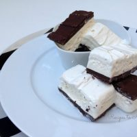 Homemade Candy Bars with Caramel and Marshmallow Nougat