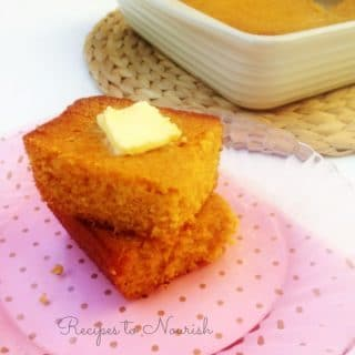 Homemade Honey Butter Glazed Cornbread {Gluten Free}
