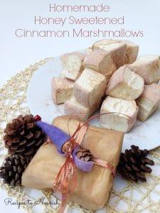 Homemade Honey Sweetened Cinnamon Marshmallows |Recipes to Nourish