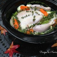 Slow Cooker Immune Boosting Chicken Bone Broth