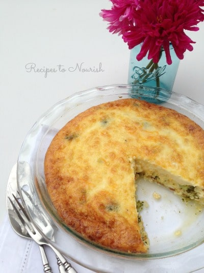 Broccoli and Bacon Quiche | Recipes to Nourish