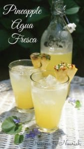 Pineapple Agua Fresca | Recipes to Nourish