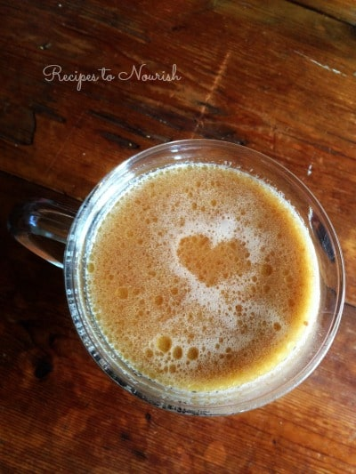 This real food Nourishing Honey Sweetened Hot Chocolate is chocolaty and comforting like the old fashioned kind we all grew up with. This version has lots of optional, wholesome and healthy add-ins. | Recipes to Nourish