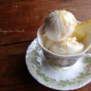 Lemon Honey Frozen Yogurt