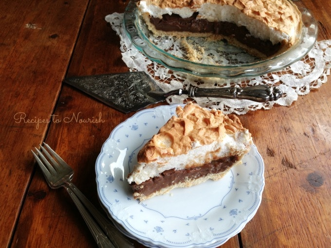 Chocolate Meringue Pie   Recipes to Nourish