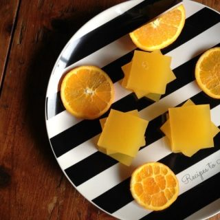 Homemade Orange Jello {No Refined Sugar}