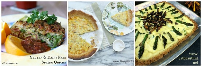 Spring Quiche Collage