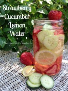 Strawberry Cucumber Lemon Water | Recipes to Nourish