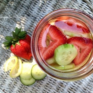 Strawberry Cucumber Lemon Water