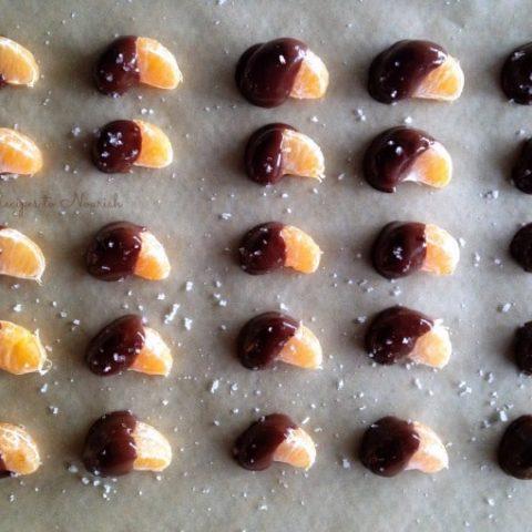 Real Food Chocolate Dipped Mandarin Oranges