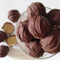 Healthy Real Food Chocolate Peanut Butter Truffles