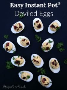 Easy Instant Pot Deviled Eggs | Recipe to Nourish