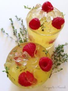 Raspberry Thyme Probiotic Seltzer | Recipes to Nourish