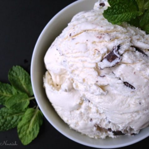 Real Food Mint Chocolate Chip Ice Cream