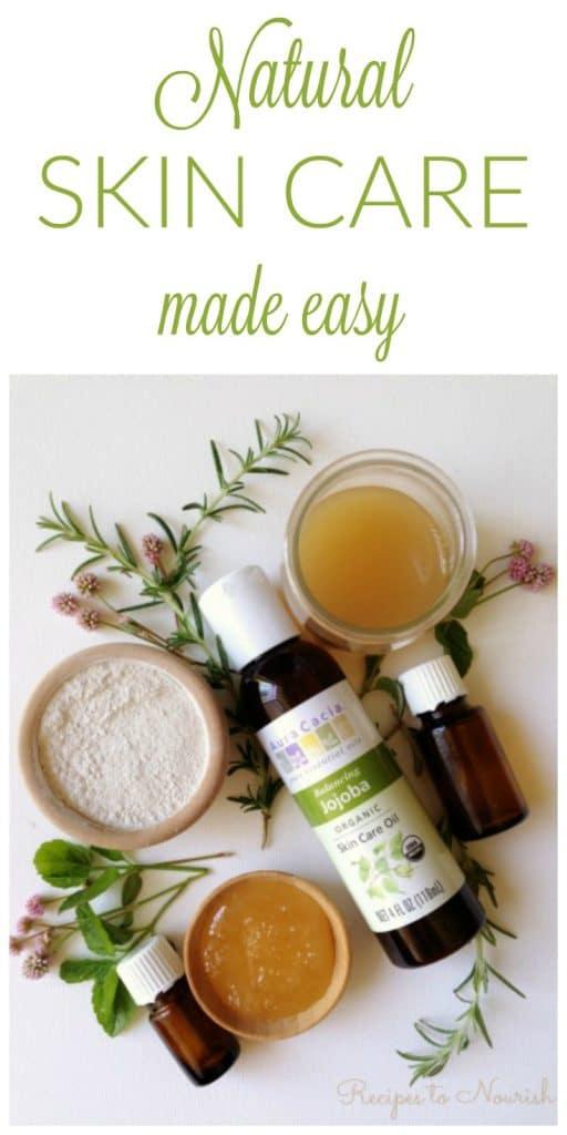 Raw honey, apple cider vinegar, bentonite clay, jojoba oil, essential oils, fresh herbs and flowers.