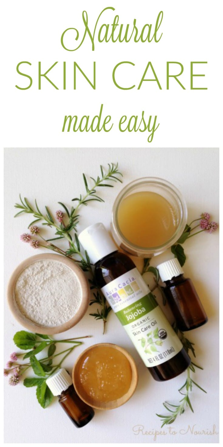 DIY Natural Skin Care made easy! Ditch the toxic chemical skin care and beauty products and make your own instead. | Recipes to Nourish | DIY Beauty products | Natural skin care | Non-toxic skin care | Easy DIY skin care | DIY Beauty recipes || #naturalskincare #diybeauty