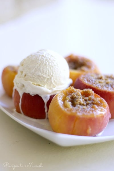 Instant Pot Stuffed Peaches | Recipes to Nourish
