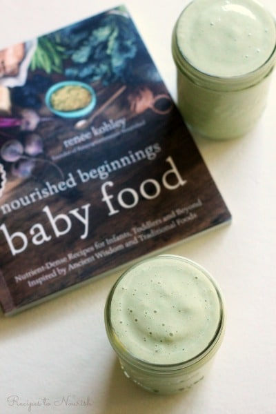This dairy free Tropical Green Smoothie is bliss in a glass! It's super creamy, full of flavor, easy to prepare, nutrient dense and perfect for babies too! | Recipes to Nourish