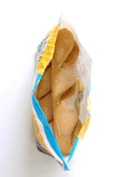 Package of Udi's baguettes.