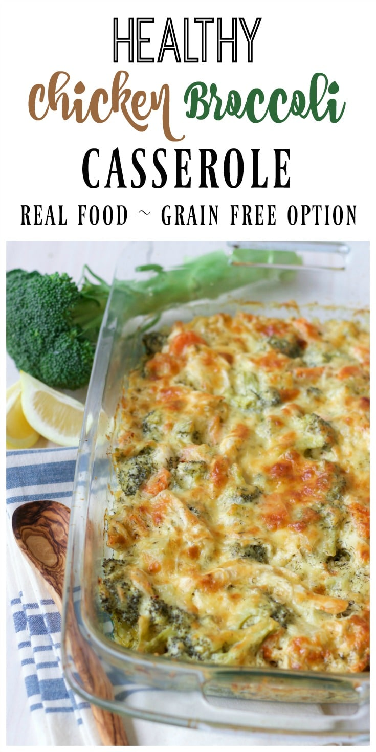 (Ad) This Healthy Chicken Broccoli Casserole is a delicious comforting classic. It's so easy to make, packed with protein, loaded with broccoli and full of vibrant herby aromatics. It has a special real food secret ingredient too and bakes up beautifully in less than an hour. | Recipes to Nourish #chickencasserole #glutenfreechickencasserole #healthychickencasserole // Grain Free | Gluten Free | Comfort Food