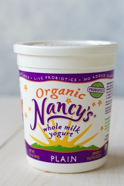 Nancy's brand organic whole milk yogurt.