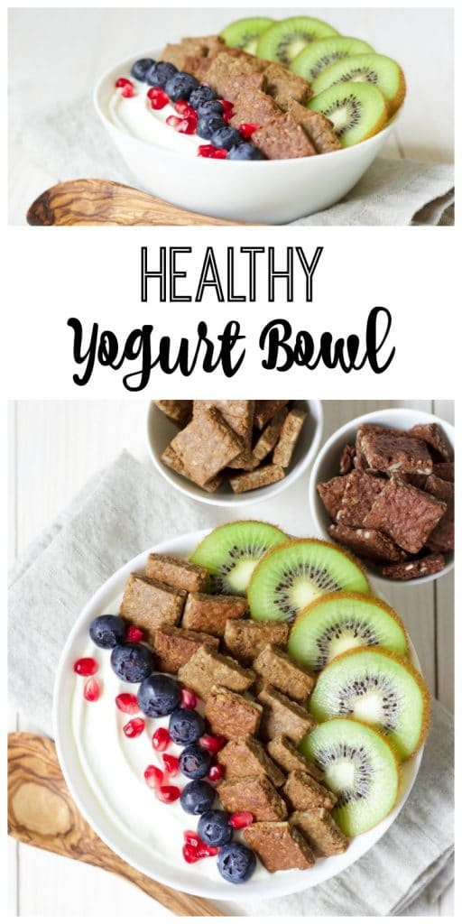 (Ad) This Healthy Yogurt Bowl is so easy to make, full of protein, packed with good for your gut probiotics and brimming with delicious, gluten free, organic, real food toppings. | Recipes to Nourish