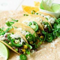 Healthy Orange Cacao Black Bean Tacos