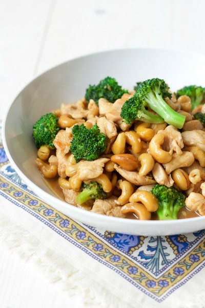 One Pan Broccoli Cashew Chicken {15 Minute Meal} | Recipes to Nourish
