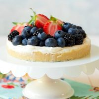 Healthy No Bake Berry Cheesecake Tart {Grain Free}