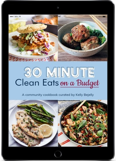 Cover of 30 Minute Clean Eats on a Budget cookbook
