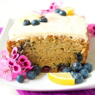 Healthy Lemon Blueberry Breakfast Cake {Grain Free}