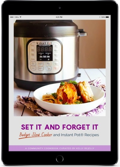 Cover of Set It and Forget It cookbook with an Instant Pot