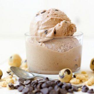 Paleo Chocolate Banana Cookie Dough Ice Cream