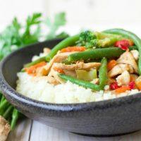Frozen Vegetable Asian Chicken Stir Fry Cauliflower Bowl