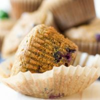 Paleo Blueberry Chocolate Chip Zucchini Muffins