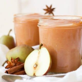 3 Minute Sugar Free InstantPot Pear Applesauce is pure perfection! Skip the store-bought applesauce and enjoy this delicious, easy to make seasonal bliss instead. It's Paleo friendly, dairy free and can be flavored with chai spices ortraditional sweet cinnamon. | Recipes to Nourish