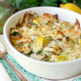Healthy Spinach Artichoke Chicken Casserole