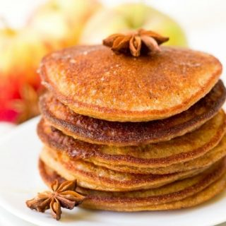 Gluten Free Pumpkin Pancakes + Ginger Honey Butter