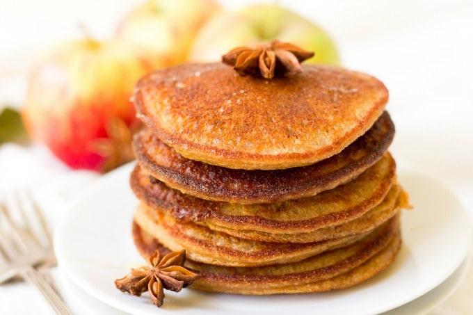 Stack of pumpkin pancakes.