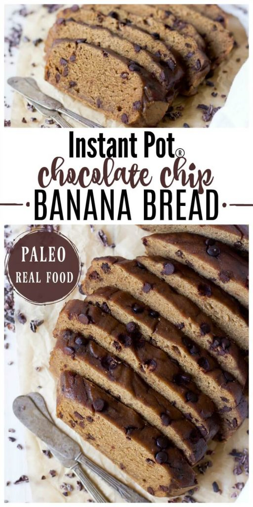 Instant pot paleo chocolate chip banana bread recipes to nourish slices of chocolate chip banana bread forumfinder Image collections