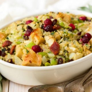 Gluten Free Fruity Riced Cauliflower Stuffing