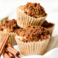 Healthy Cinnamon Streusel Coffee Cake Muffins