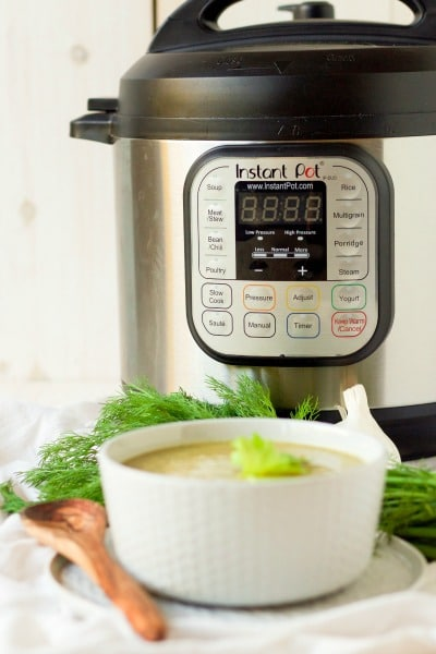 Broccoli soup with the Instant Pot.