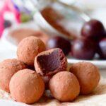 Cocoa dusted chocolate truffles.