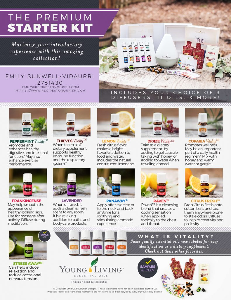 Young Living essential oils and premium starter kit